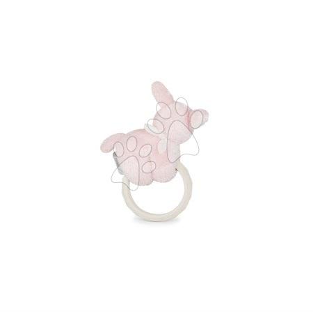 Chrastítka a kousátka - Plyšový oslík s kousátkem Les Amis Regliss Kaloo chrastící a šustící v dárkovém balení 16 cm růžový od 0 měsíců_1