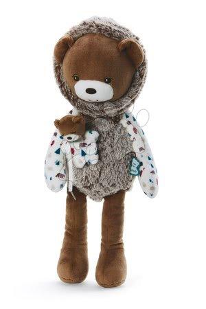 Hadrové panenky - Plyšová panenka medvěd s mládětem Doll Bear Gaston Classique Filoo Kaloo 40 cm v dárkové krabici od 0 měsíců
