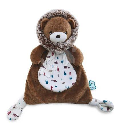 Hračky do postieľky  - Plyšový medveď na maznanie Doudou Gaston Bear Classique Filoo Kaloo 20 cm v darčekovej krabici od 0 mes