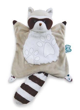 Hračky do postieľky  - Plyšový medvedík čistotný na maznanie Doudou Leon Raccoon Classique Filoo Kaloo 20 cm v darčekovej krabici od 0 mes