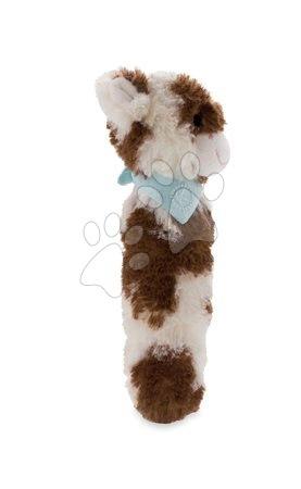 Chrastítka a kousátka - Plyšové chrastítko kravička Les Amis Kaloo pískací 19 cm z jemného plyše pro nejmenší krémově-hnědé_1
