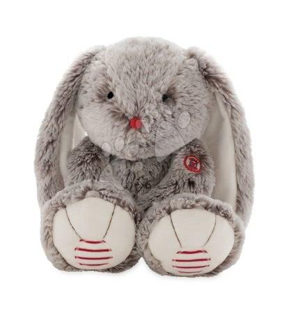 Rouge Kaloo - Plyšový zajíc Rouge Kaloo Large 38 cm z jemného plyše pro nejmenší děti krémově-šedý