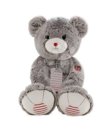 Plyšový medveď Rouge Kaloo Prestige XL 55 cm z jemného plyšu pre najmenšie deti krémovo-šedý