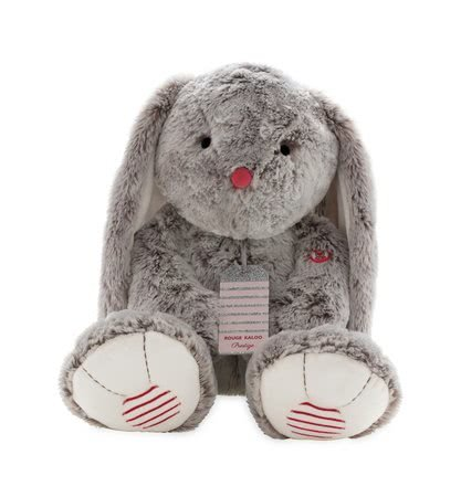 Plyšový zajačik Rouge Kaloo Prestige XL 55 cm z jemného plyšu pre najmenšie deti krémovo-šedý