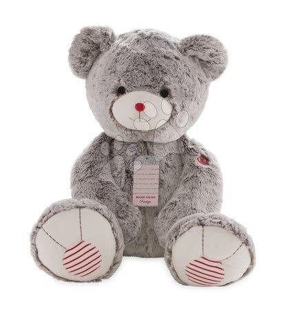 Plyšový medveď Rouge Kaloo Prestige XXL 70 cm z jemného plyšu pre najmenšie deti krémovo-šedý