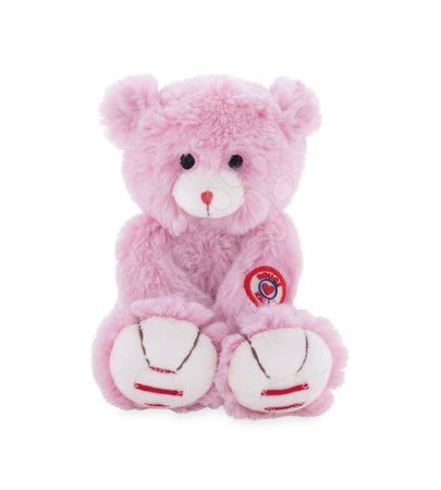 Rouge Kaloo - Plyšový medvěd Rouge Kaloo 19 cm z jemného plyše růžovo-krémový
