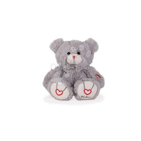 Plyšový medvídek Rouge Kaloo s výšivkou pro nejmenší děti 22 cm šedý od 0 měsíců