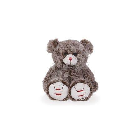 Rouge Kaloo - Plyšový medvěd Rouge Kaloo s výšivkou pro nejmenší děti 22 cm hnědý od 0 měsíců