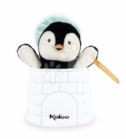 Plyšový tučňák loutkové divadlo Gabin Penguin Kachoo Kaloo překvapení v iglú 25 cm pro nejmenší od 0 měs