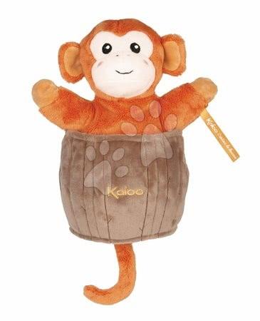 Plyšová opička loutkové divadlo Jack Monkey Kachoo Kaloo překvapení v kokosovém ořechu 25 cm pro nejmenší od 0 měsíců
