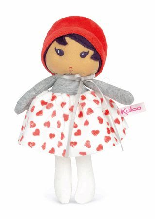 Rongybaba kisbabáknak Jade K Doll Tendresse Kaloo 18 cm szivecskés ruhácskában puha textilből ajándékcsomagolásban 0 hó-tól