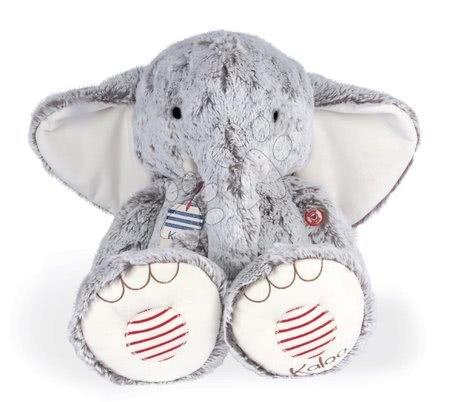 Elefant de pluș Noa Elephant Grey XL Rouge Kaloo gri 55 cm din pluș moale pentru bebelușii de la 0 luni