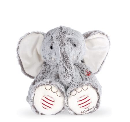 Rouge Kaloo - Plyšový slon Noa Elephant Grey L Rouge Kaloo šedý 38 cm z jemného materiálu pro nejmenší od 0 měsíců
