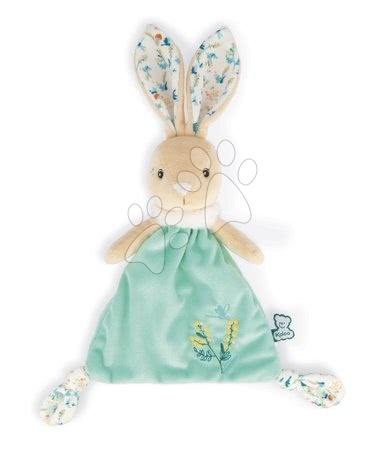 Iepuraș de pluș pentru alint Justin Rabbit Triangle Doudou Fripons Kaloo din material moale 20 cm în ambalaj cadou de la 0 luni
