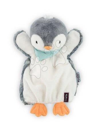 Plyšový tučňák loutkové divadlo Les Amis-Penguin Doudou Kaloo 30 cm pro nejmenší