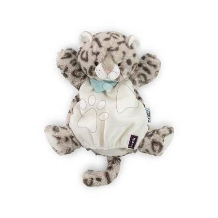Plyšový leopard loutkové divadlo Les Amis-Leopard Doudou Kaloo 30 cm pro nejmenší