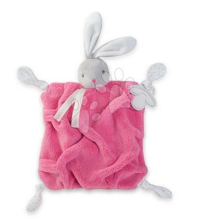 Plüss nyuszi babusgatáshoz Plume Doudou Kaloo 20 cm ajándékcsomagolásban legkisebbeknek rózsaszín