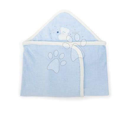 Osuška pre bábätká s medveďom Plume Kaloo  s kapucňou 969574 modrá