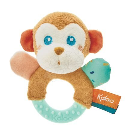 Chrastítka a kousátka - Kousátko s chrastítkem Opice Sam Jungle Kaloo pro nejmenší od 0 měsíců