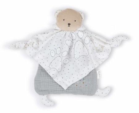 Hračky do postieľky  - Textilný medveď šedý Organic Cotton Doudou Bear Grey Kaloo na maznanie do postieľky 20 cm v darčekovom balení od 0 mes_1