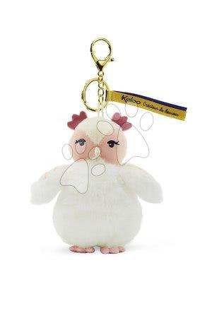 Bábiky pre dievčatá - Plyšová bábika sova Luna Owl Les Kalines Kaloo 10 cm ako prívesok od 0 mes