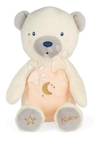 Plyšoví medvědi - Plyšový medvěd noční světlo My Bear Nightlight Home Kaloo šedo-krémový 22 cm se světlem z jemného plyše od 3 měsíců_1
