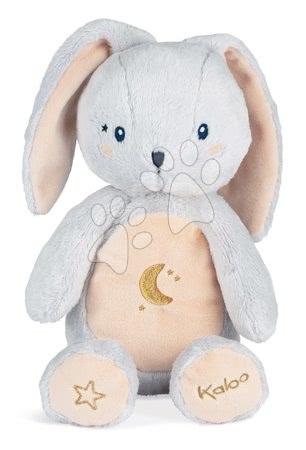 Plyšové hračky - Plyšový zajíček noční světlo My Rabbit Nightlight Home Kaloo šedo-krémový 22 cm se světlem z jemného plyše od 3 měsíců_1