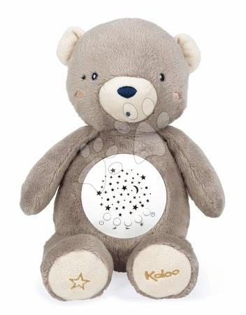 Plyšoví medvědi - Plyšový medvěd projektor My Projector Nightlight Home Kaloo hnědý 32 cm s 13 světly a 13 melodiemi z jemného plyše od 3 měsíců