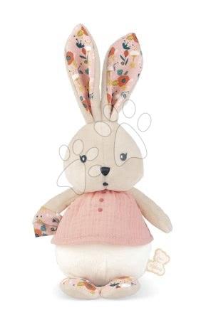 Hadrové panenky - Hadrová panenka zajíček Coquelicot Rabbit Doll Poppy K'doux Kaloo růžový 25 cm z jemného materiálu od 0 měsíců