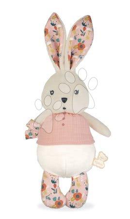 Handrové bábiky - Handrová bábika zajačik Coquelicot Rabbit Doll Poppy K'doux Kaloo ružový 25 cm z jemného materiálu od 0 mes