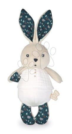 Handrové bábiky - Handrová bábika zajačik Nature Rabbit Doll K'doux Kaloo biely 25 cm z jemného materiálu od 0 mes