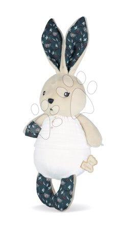 Handrové bábiky - Handrová bábika zajačik Nature Rabbit Doll K'doux Kaloo biely 25 cm z jemného materiálu od 0 mes_1