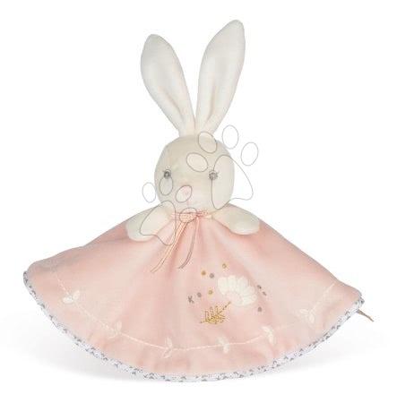 Hračky do postieľky  - Plyšový zajačik na maznanie Round Doudou Rabbit Pink Perle Kaloo ružový 20 cm z jemného mäkkého materiálu od 0 mes