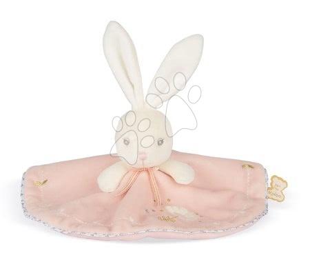Hračky do postieľky  - Plyšový zajačik na maznanie Round Doudou Rabbit Pink Perle Kaloo ružový 20 cm z jemného mäkkého materiálu od 0 mes_1
