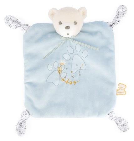 Hračky do postieľky  - Plyšový medveď na maznanie Round Doudou Bear Blue Perle Kaloo modrý 20 cm z jemného mäkkého materiálu od 0 mes