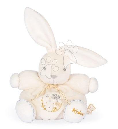 Plyšové hračky - Plyšový zajíček s hudbou Chubby Musical Rabbit Cream Perle Kaloo krémový 18 cm 'All the pretty little horse' s melodií od 0 měsíců