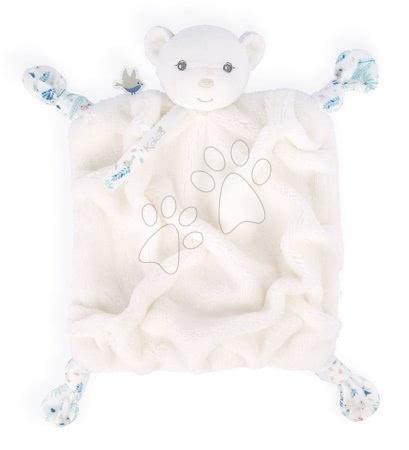 Hračky do postieľky  - Plyšový medveď maznáčik Plume Doudou Bear Ivory Kaloo biely 20 cm pre bábätká v darčekovom balení od 0 mes