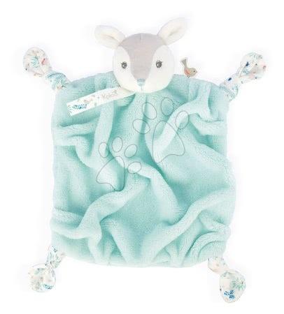 Hračky do postieľky  - Plyšová srnka maznáčik Plume Doudou Fawn Water Kaloo tyrkysový 20 cm pre bábätká v darčekovom balení od 0 mes