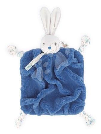 Hračky do postieľky  - Plyšový zajačik maznáčik Plume Doudou Rabbit Ocean Blue Kaloo modrý 20 cm pre bábätká v darčekovom balení od 0 mes