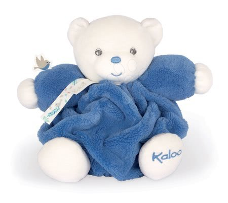 Plyšoví medvědi - Plyšový medvěd Chubby Bear Ocean Blue Plume Kaloo modrý 18 cm z jemného měkkého materiálu v dárkovém balení od 0 měsíců