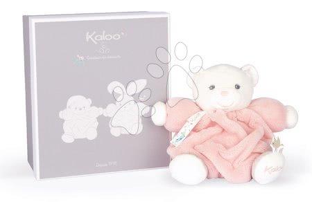 Plyšoví medvědi - Plyšový medvěd Chubby Bear Powder Pink Plume Kaloo růžový 18 cm z jemného měkkého materiálu v dárkovém balení od 0 měs_1
