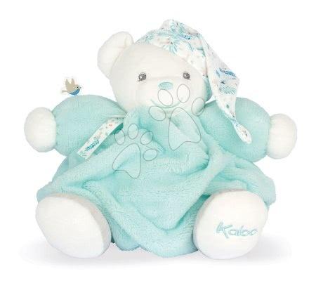 Plyšoví medvědi - Plyšový medvěd Chubby Bear Water Plume Kaloo tyrkysový 25 cm z jemného měkkého materiálu v dárkovém balení od 0 měsíců