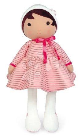 Bábiky pre dievčatá - Bábika pre bábätká Rose K Doll XXL Tendresse Kaloo z jemného materiálu 80 cm v ružových pásikavých šatočkách od 0 mes