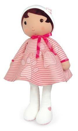Bábiky pre dievčatá - Bábika pre bábätká Rose K Doll XXL Tendresse Kaloo z jemného materiálu 80 cm v ružových pásikavých šatočkách od 0 mes_1
