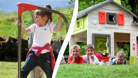 Domčeky pre deti s preliezačkou
