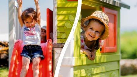 Domčeky pre deti so šmykľavkou