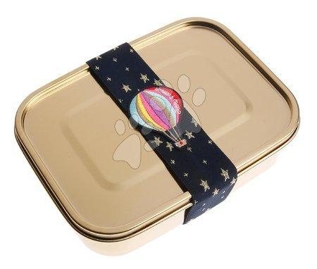 Kutije za užinu - Box na desiatu Lunchbox Girls Classic gold Balloons Jeune Premier ergonomický luxusné prevedenie 21*7 cm JPLB021165