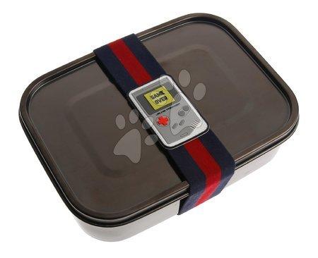Kutije za užinu - Box na desiatu Lunchbox Boys Black Nickel Mr. Gadget Jeune Premier ergonomický luxusné prevedenie 21*7 cm JPLB021169