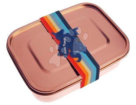 Kutije za užinu - Box na desiatu Lunchbox Girls Rose gold Unicorn Universe Jeune Premier ergonomický luxusné prevedenie 21*7 cm JPLB021176
