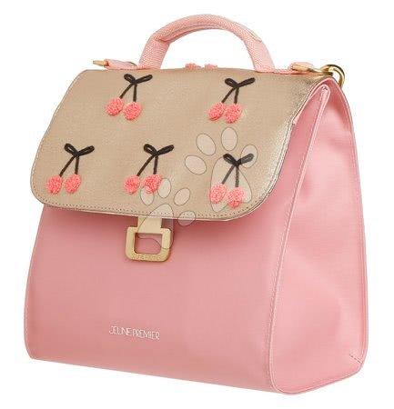 Školski pribor - Kutija za užinu Lunch Bag Cherry Pompon Jeune Premier ergonomska luksuzni dizajn 22*24 cm_1